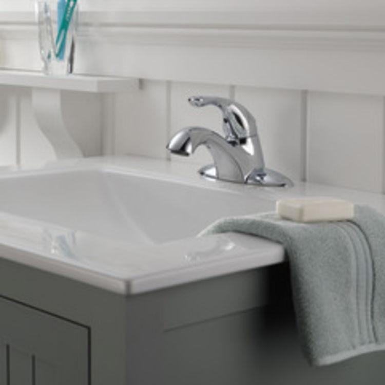 View 3 of Delta 505LF Delta 505LF Classic Single Handle Centerset Bathroom Faucet, Chrome
