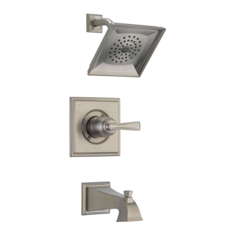 View 4 of Delta RP77035SS Delta RP77035SS Olmsted Square-Shaped Tub/Shower Trim Valve Escutcheon, Stainless