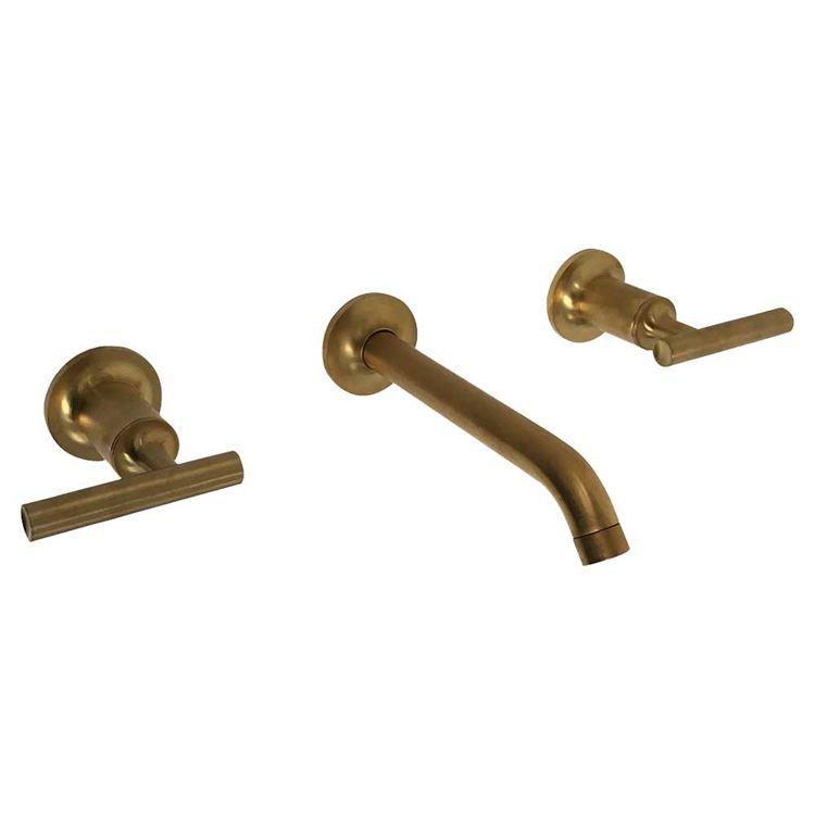 View 3 of Kohler T14413-4-BGD Kohler K-T14413-4-BGD Brushed Gold Purist Wall-Mount Lavatory Faucet Trim