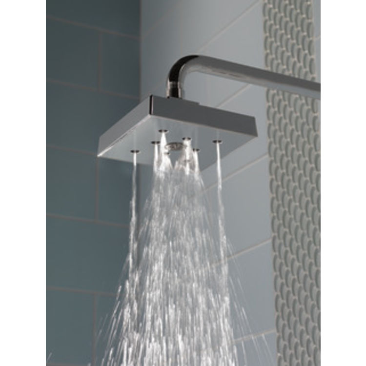 View 4 of Delta RP70171-SS15 Delta RP70171-SS15 ARA ingle Function Shower Head with H2Okinetic Technology, 1.5 GPM -  Brilliance Stainless