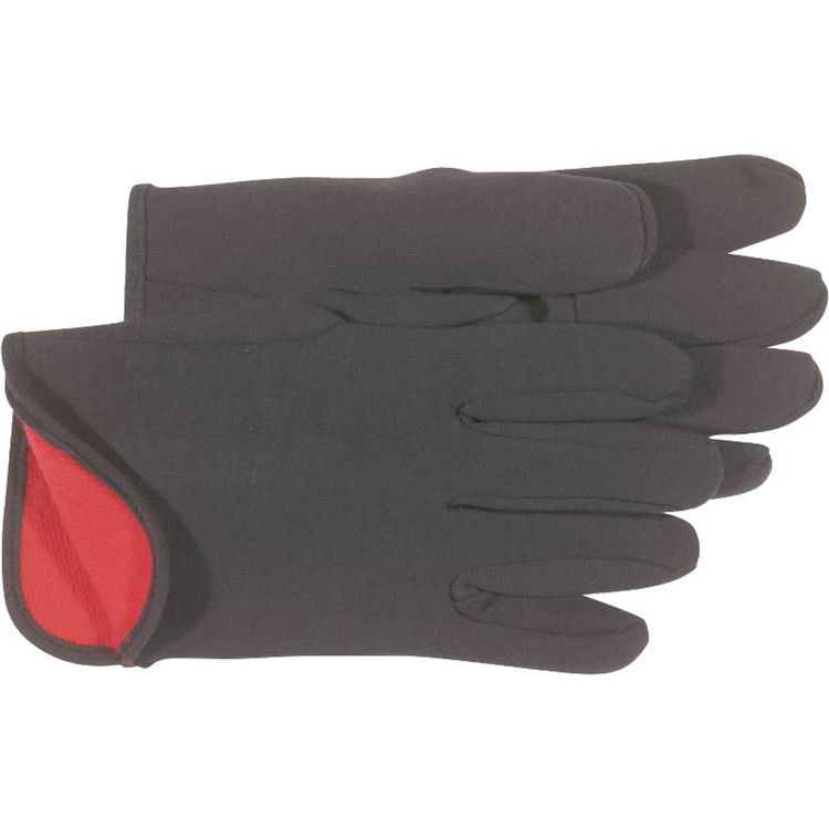 View 3 of Boss 4027 Boss 4027 Protective Gloves, Large, Jersey, Brown, Red Fleece Lining