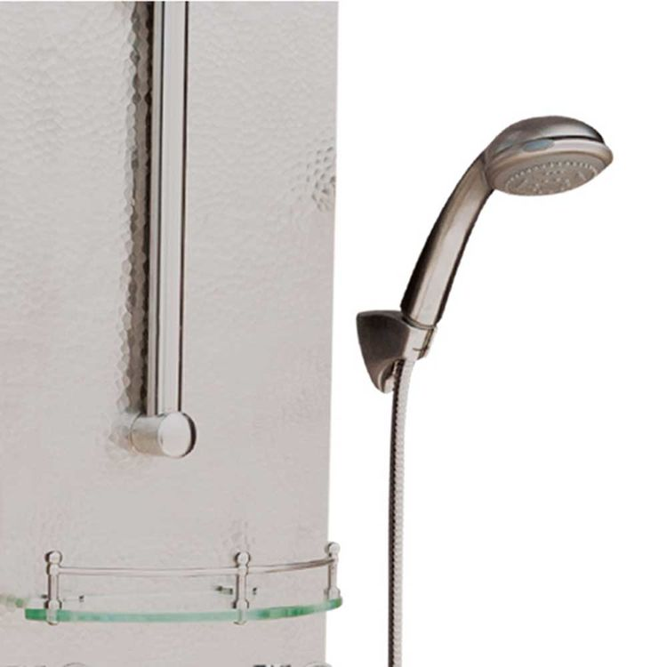 View 4 of Pulse 1027 Pulse 1027 Hand-Forged Panel Vaquero ShowerSpa, Hammered Nickel Finish