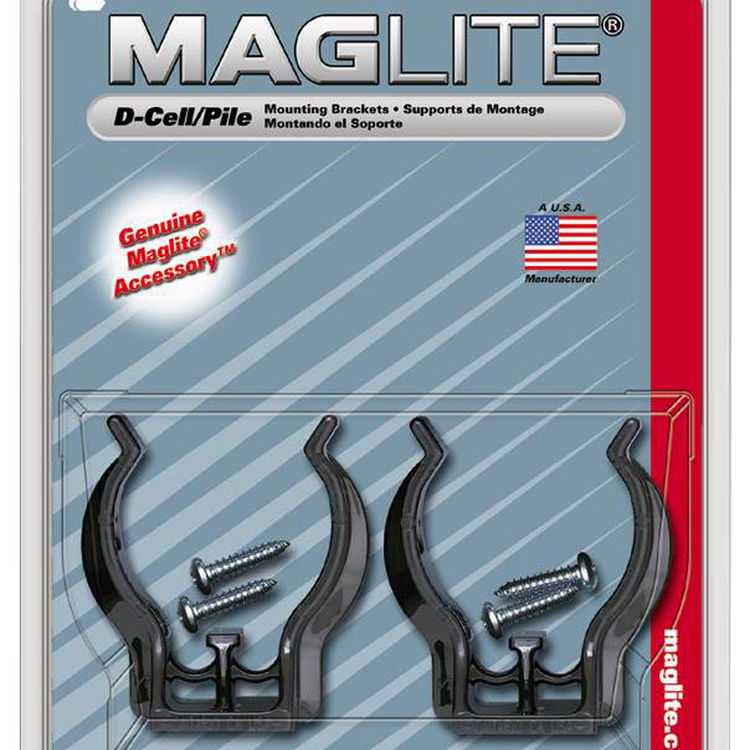 View 3 of Maglite BRACKET Maglite ASXD026 Mounting Bracket, For Use with D-Cell, Black