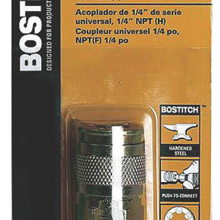 View 3 of Bostitch BTFP72321 BOSTITCH BTFP72321 Push-To-Connect Universal Coupler, 1/4 in, FNPT, Steel