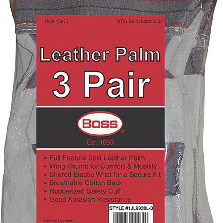 View 3 of Boss 4092-3 Boss 1JL9920L-3 Driver Gloves, Large, Cotton Back, Unlined Lining
