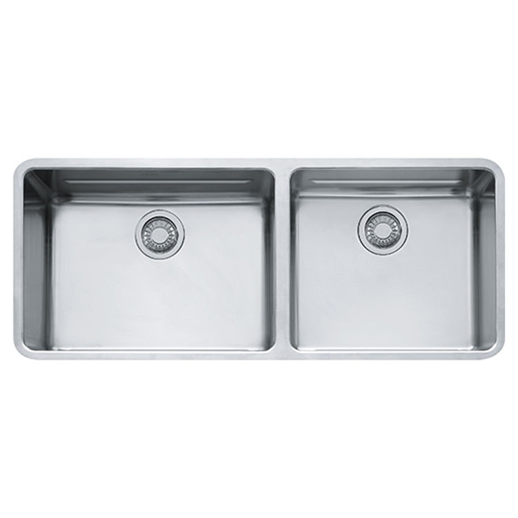 View 3 of Franke KBX12043 Franke KBX12043 Double Bowl Undermount Stainless Undermount Sink - Stainless