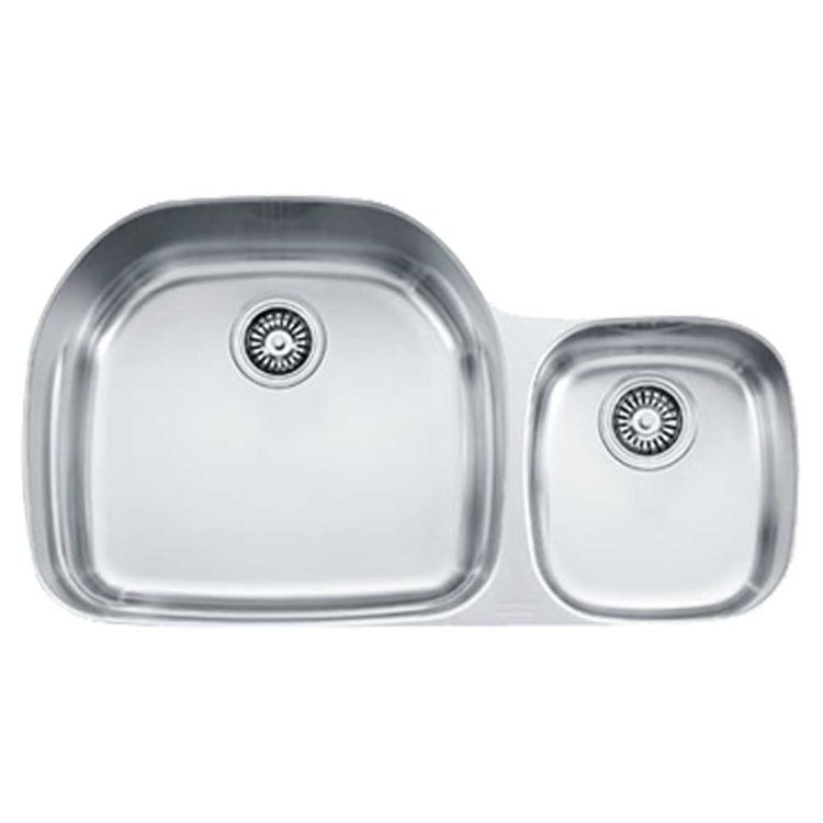 View 3 of Franke PRX120LH Franke PRX120LH Double Bowl Undermount Stainless Undermount Sink - Stainless