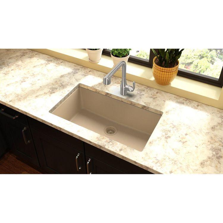 View 8 of Elkay ELGRU13322SD0 Elkay ELGRU13322SD0 Quartz Classic Single Bowl Undermount Sink, Sand