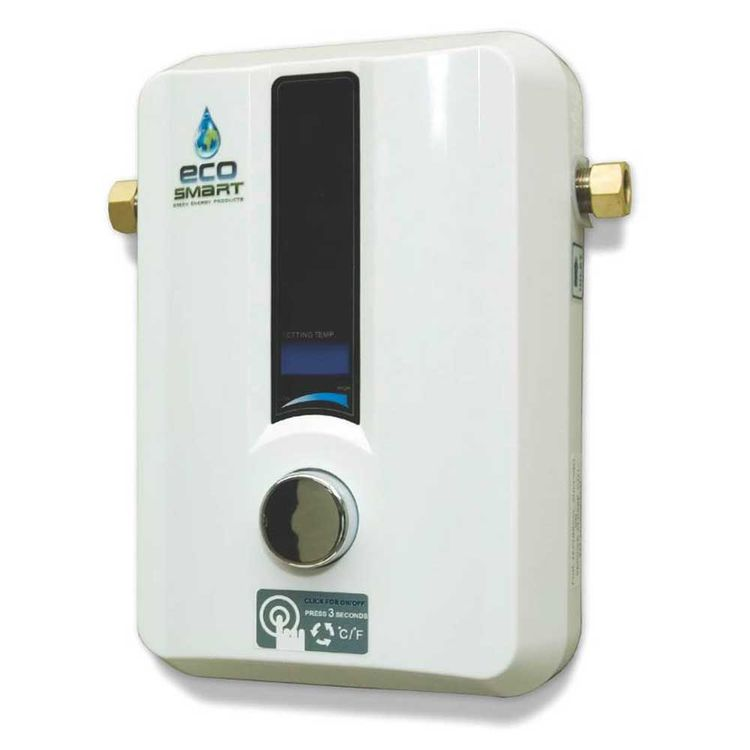 Ecosmart ECO 11 Ecosmart ECO 11 Tankless Electric Water Heater, 0.25 gpm, 13.6 kW, 240 V, 57 A, 50/60 Hz, 1 Phase, Wall Mount