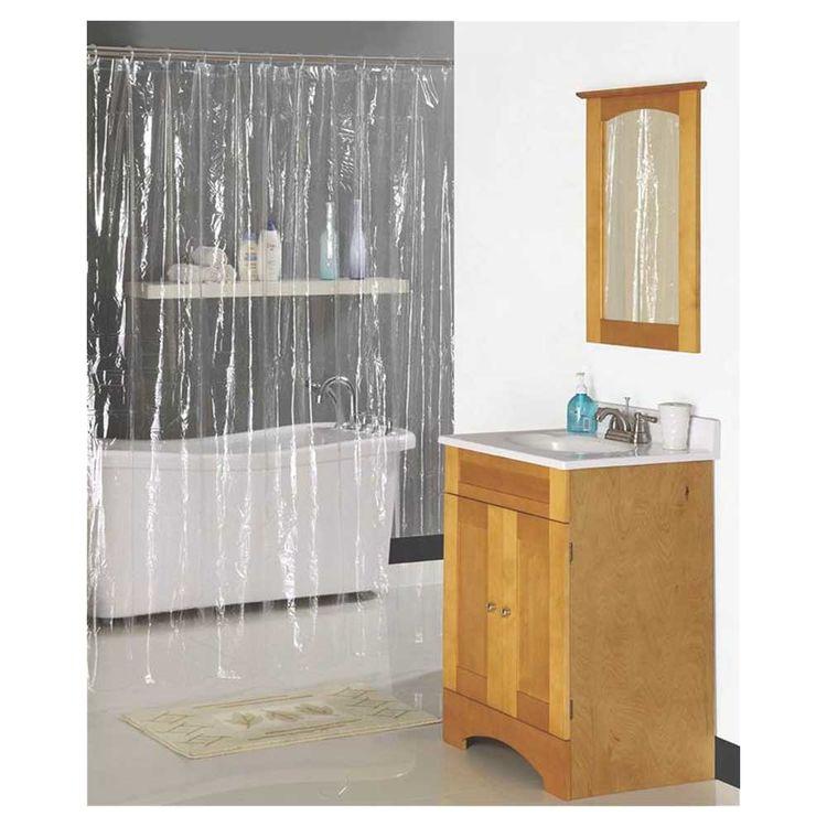 Homebasix SD-PCP01-C3L Homebasix SD-PCP01-C3L Heavy Duty Shower Curtain, 70 in W x 72 in L x 0.06 mm T, Vinyl, Clear