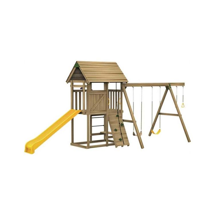 Playstar PS 7485 Playstar Grand Slam Ready-to-Assemble Playset, 44 sq-ft Play Deck, 16 Activities