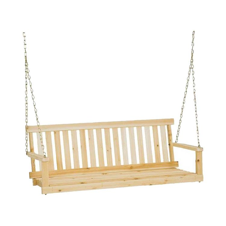 Seasonal Trends H-24 Jack Post Jennings Traditional Porch Swing Seat, 44 in W, Fir Wood, Silver Gray, Natural