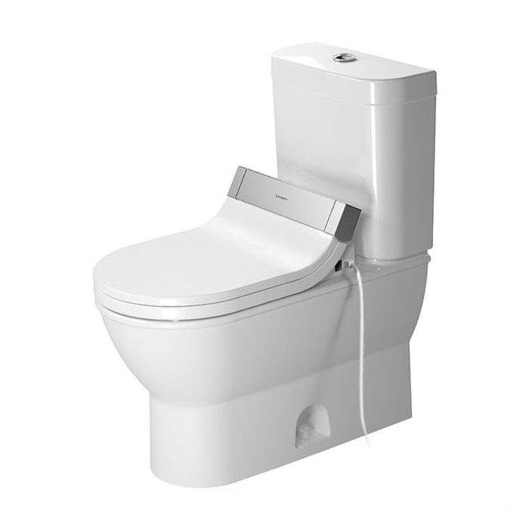 View 2 of Duravit 21260100001 Duravit 21260100001 Darling New Single Flush Two-Piece Floor Mounted Elongated Toilet - White