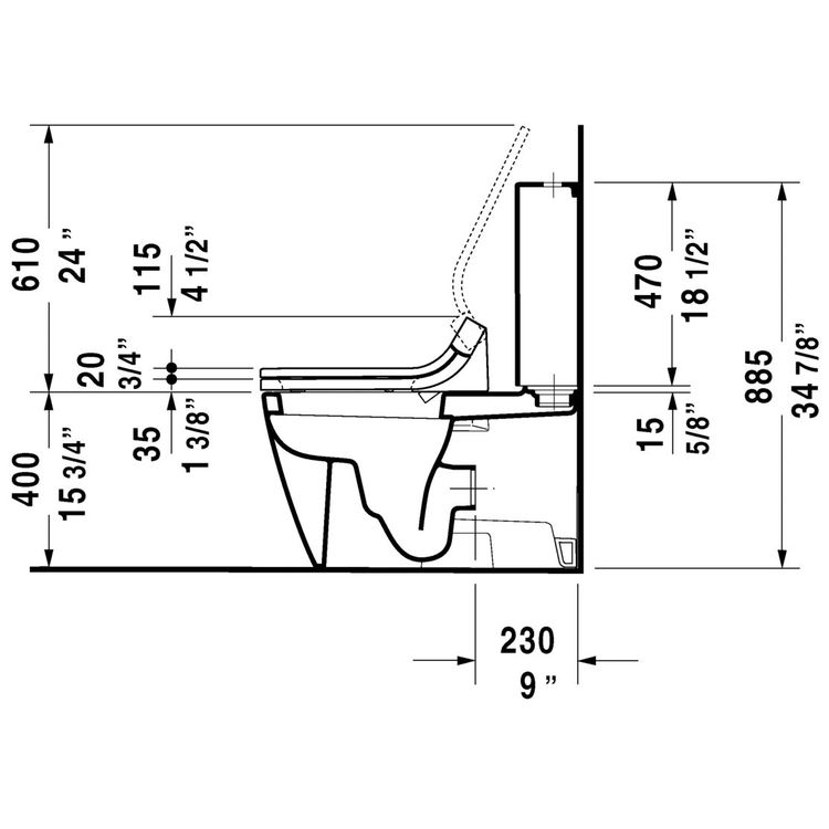 View 4 of Duravit 21290900921 Duravit 21290900921 Starck 2 Dual Flush Two-Piece Floor Mounted Close Coupled Elongated Toilet - White