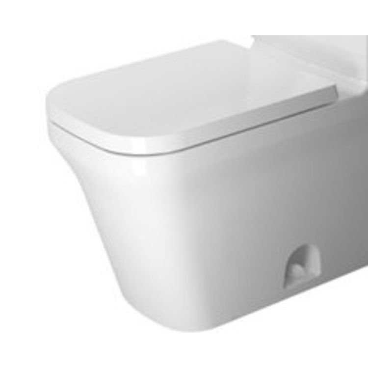 Duravit 21680100001 Duravit 21680100001 P3 Comforts Single Flush/Dual Flush Two-Piece Floor Mounted Elongated Toilet - White