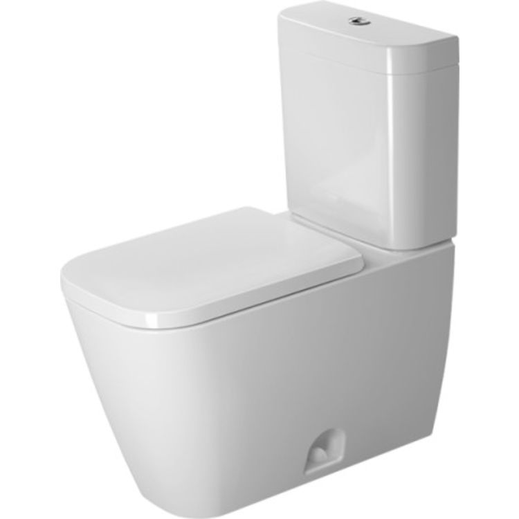 Duravit 21740100001 Duravit 21740100001 Happy D.2 Dual Flush Two-Piece Floor Mounted Rimless Elongated Toilet - White