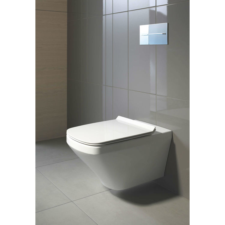 View 4 of Duravit 25370900921 Duravit 25370900921 DuraStyle Dual Flush One-Piece Wall Mounted Elongated Toilet - White