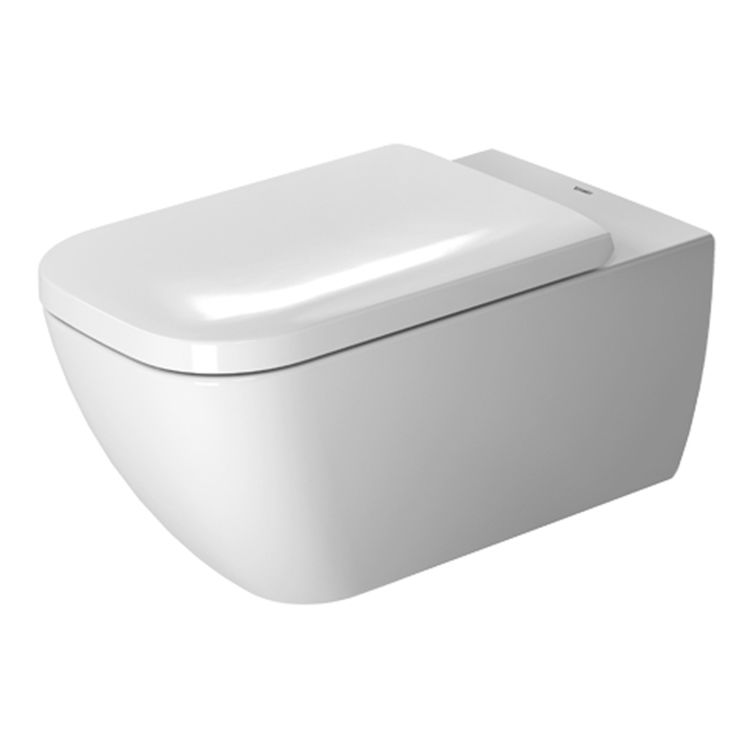 View 4 of Duravit 25500900921 Duravit 25500900921 Happy D.2 Dual Flush One-Piece Wall Mounted Rimless Elongated Toilet - White
