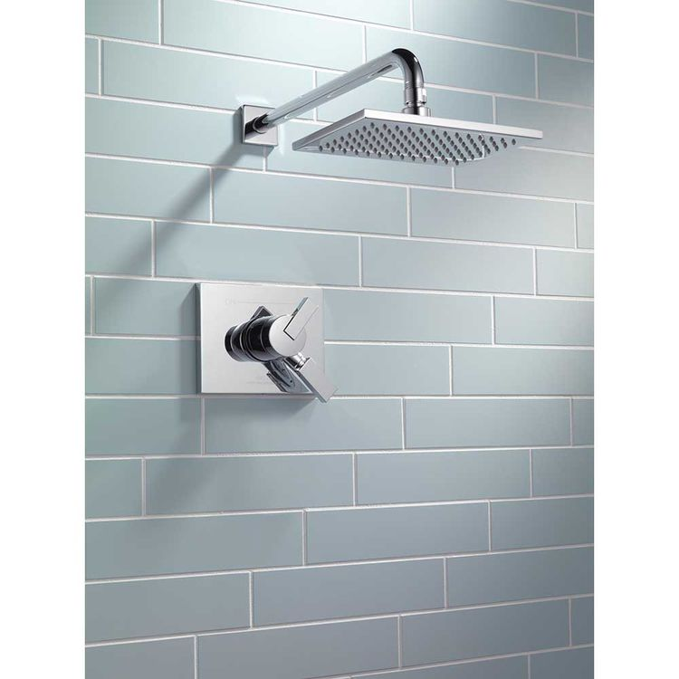 View 4 of Delta T17253-WE Delta T17253-WE Vero Chrome H2OKinetic Monitor Shower Trim Only