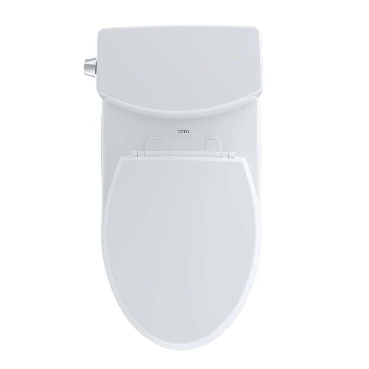 View 5 of Toto CST474CUFRG#01 TOTO Vespin II 1G Two-Piece Elongated 1.0 GPF Universal Height Skirted Toilet with CeFiONtect and Right-Hand Trip Lever, Cotton White - CST474CUFRG#01