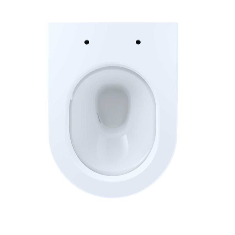 View 4 of Toto CT437FG#01 Toto MH Wall-Hung D-Shape Toilet Bowl Only, Cotton White - CT437FG#01
