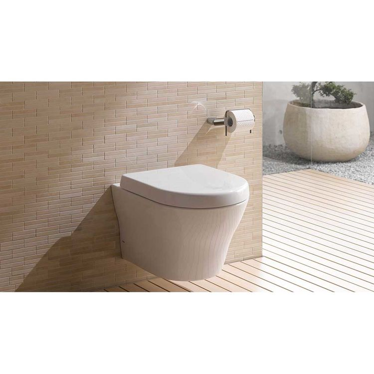 View 4 of Toto CWT437117MFG-3#01 TOTO MH Wall-Hung D-Shape Toilet and DuoFit in-wall 0.9 GPF and 1.28 GPF Dual-Flush Tank System with PEX Supply, Cotton White - CWT437117MFG-3#01