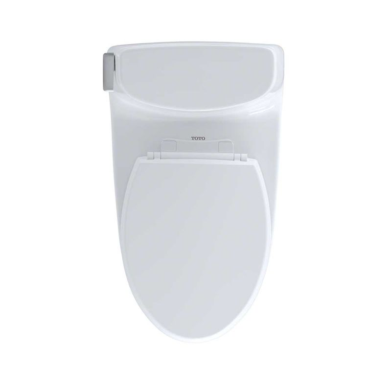 View 6 of Toto MS614114CUFG#01 TOTO Carlyle II 1G One-Piece Elongated 1.0 GPF Universal Height Skirted Toilet with CeFiONtect, Cotton White - MS614114CUFG#01