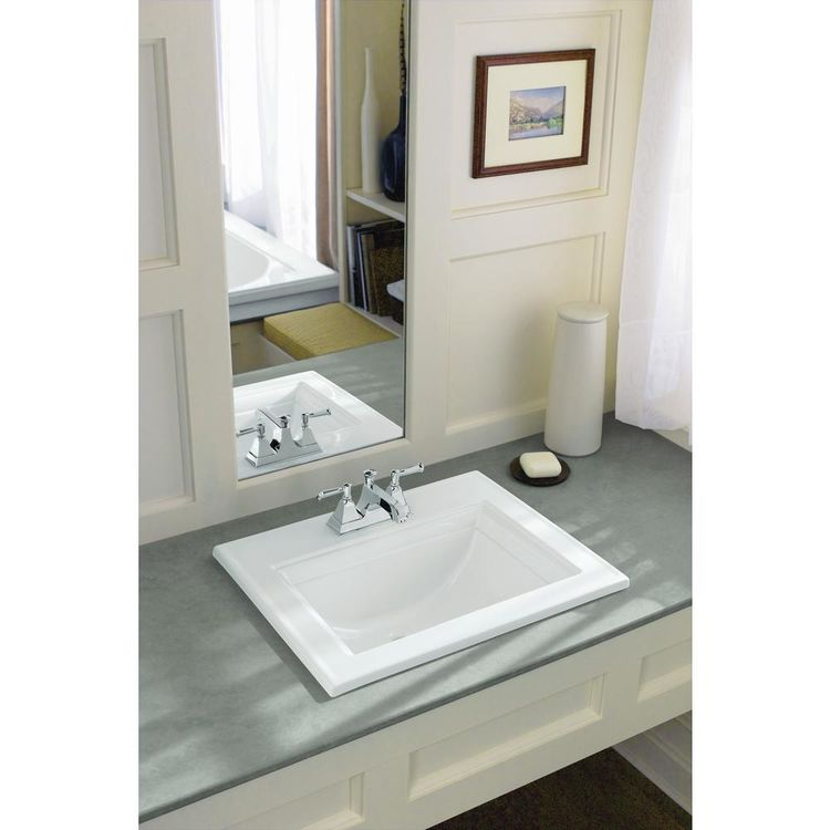 Kohler 2337-4-0 Kohler K-2337-4-0 Memoirs Stately Drop-in Bathroom Sink w/ 4