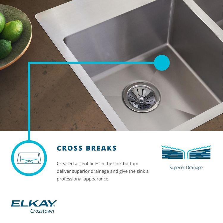 View 5 of Elkay ECTSR25229TBG4 Elkay Crosstown Stainless Steel 25