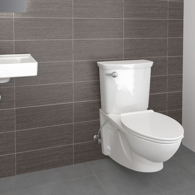 View 6 of American Standard 2882.107.020 American Standard 2882.107.020 Glenwall VorMax Wall Hung Elongated Complete Toilet - White