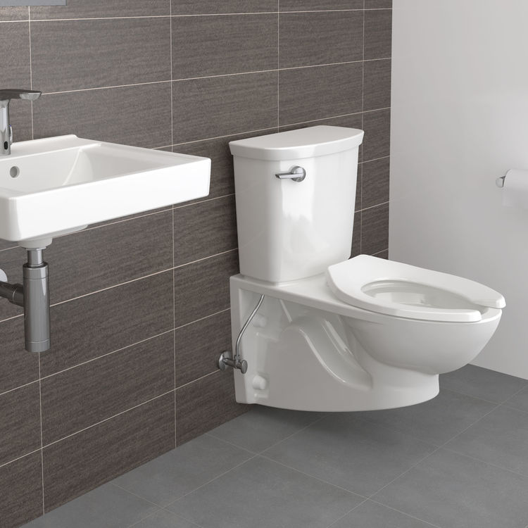 View 5 of American Standard 2882.107.020 American Standard 2882.107.020 Glenwall VorMax Wall Hung Elongated Complete Toilet - White