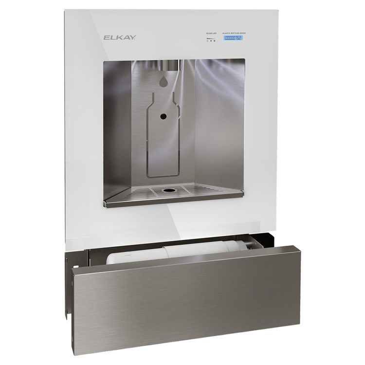 View 3 of Elkay LBWD00WHC Elkay ezH2O Liv Built-in Filtered Water Dispenser, Non-refrigerated, Aspen White - LBWD00WHC