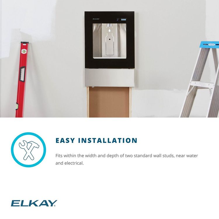 View 9 of Elkay LBWD00WHC Elkay ezH2O Liv Built-in Filtered Water Dispenser, Non-refrigerated, Aspen White - LBWD00WHC