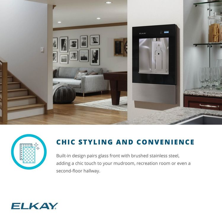 View 9 of Elkay LBWD06BKK Elkay LBWD06BKK ezH2O Liv Built-in Filtered Water Dispenser, Remote Chiller, Midnight