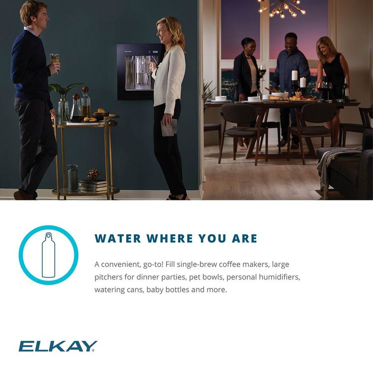 View 13 of Elkay LBWD06WHK Elkay LBWD06WHK ezH2O Liv Built-in Filtered Water Dispenser, Remote Chiller, Aspen White