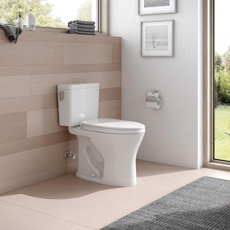 View 5 of Toto CST746CEMG#01 TOTO CST746CEMG#01 Drake Two-Piece Toilet 1.28 GPF & 0.8 GPF Elongated Bowl - Cotton White