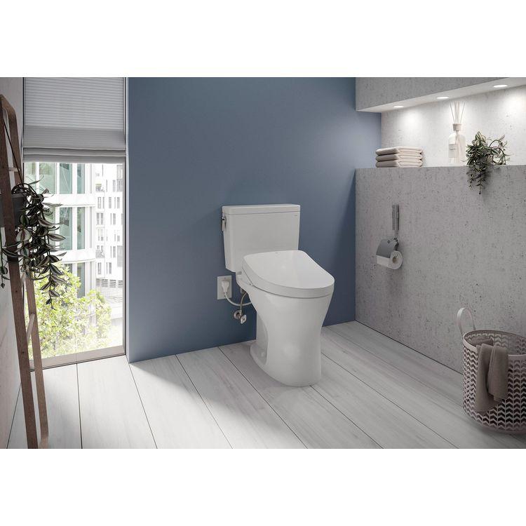 View 4 of Toto MW7463056CEMFGA#01 TOTO Drake WASHLET+ S550e Two-Piece Toilet - 1.28 GPF & 0.8 GPF - Universal Height - Cotton White - MW7463056CEMFGA#01