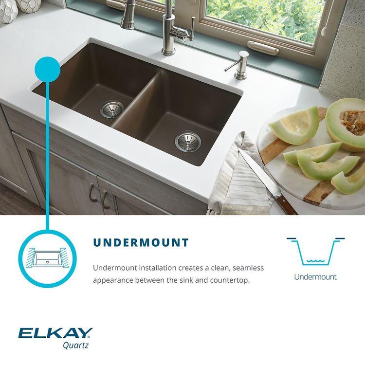 View 4 of Elkay ELGRU13322SD0 Elkay ELGRU13322SD0 Quartz Classic Single Bowl Undermount Sink, Sand