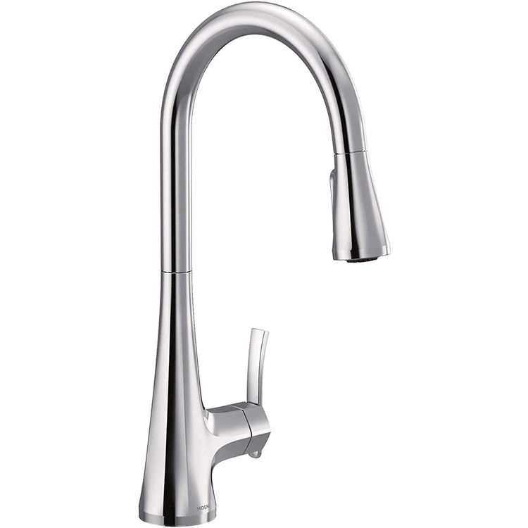View 5 of Moen S7235 Moen S7235 Sinema One-Handle Pulldown Kitchen Faucet - Chrome