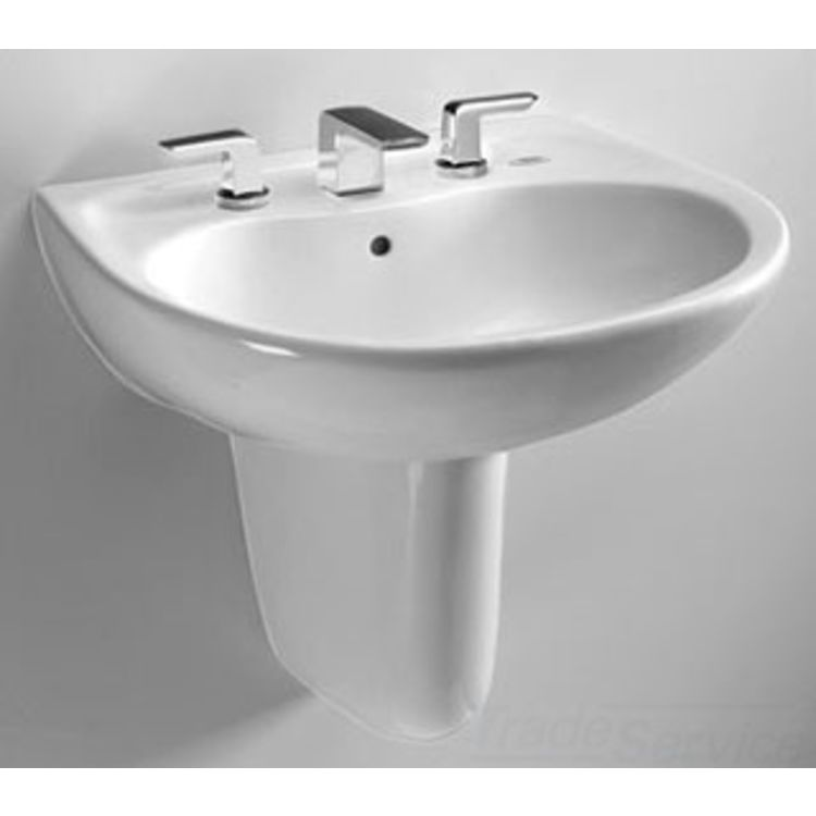 Toto LHT242.8G#01 Toto LHT242.8G Cotton White Prominence Wall Mount Lavatory 8