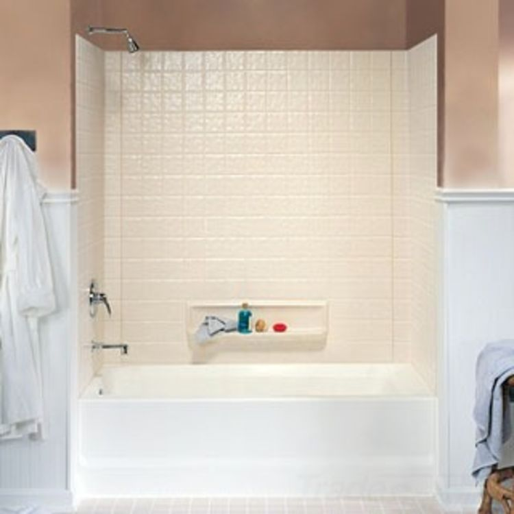 Swanstone TI-3-018 Bisque 3 Piece Swantile Tub Wall Kit