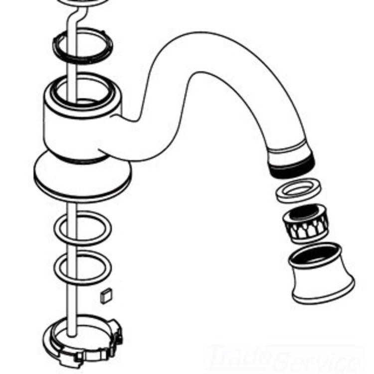 Moen 116626BN Moen 116626BN Part Spout Kit, Widespread Lavatory