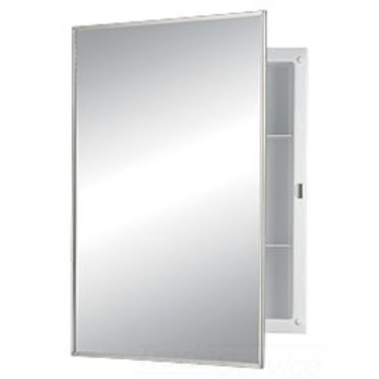 Broan Medicine Cabinet Replacement Parts broan-nutone 781021 stainless steel mirror framed medicine cabinet