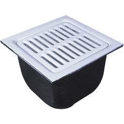 Watts fs 753 22 12 x 12 x 10 floor 3 drain sink white for 10 x 12 floor grate
