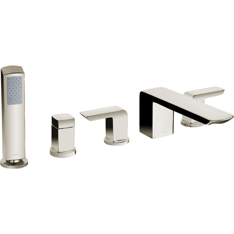 Toto TB960S BN Brushed Nickel Soiree Deck Mount Bath Faucet Hand Shower Dive