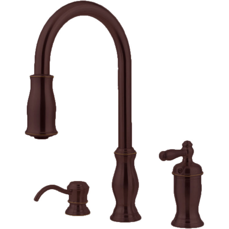 Pfister Gt526 Tmy Hanover One Handle Pulldown Kitchen Faucet