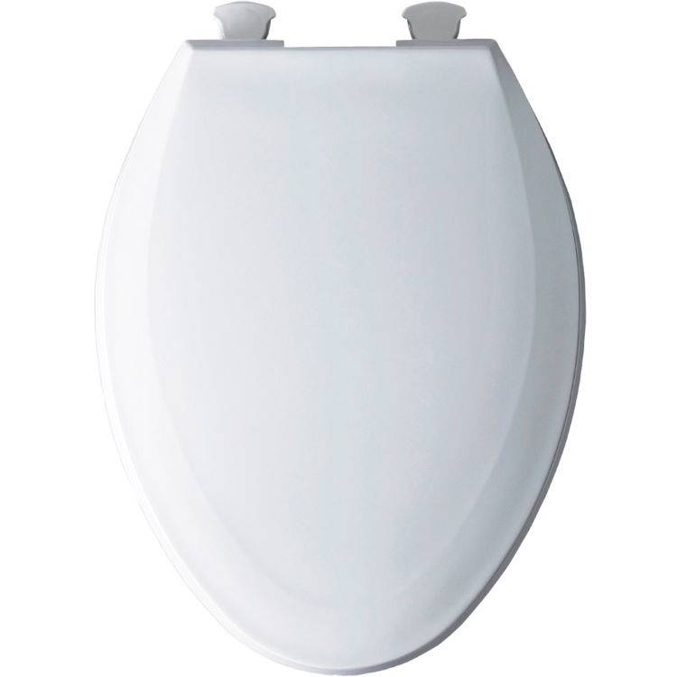 Bemis 1100EC 000 Elongated Plastic Toilet Seat Closed Front With Cover Whi