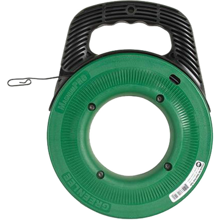 Greenlee fts438 65 steel fish tape 1 8 x65 39 plumbersstock for Greenlee fish tape
