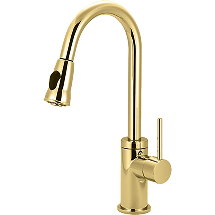 Pioneer 2mt250 Pb Single Handle Pull Down Kitchen Faucet