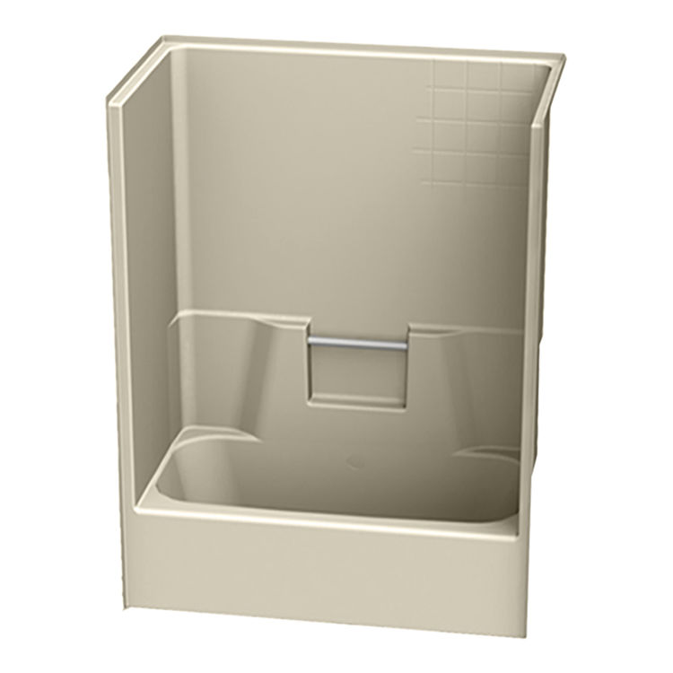Aquatic Bath 2543CTG AL Almond 54 X29 X72 Gelcoat Tub S
